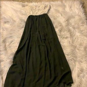 Chocolate Dresses - Green + Lace Maxi Dress